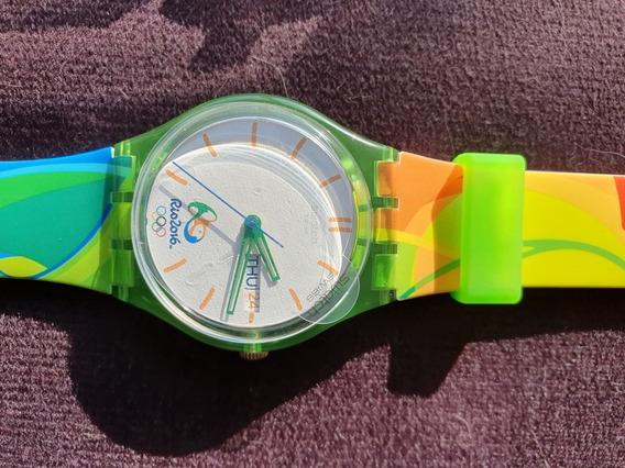Relógio Swatch Jogos Olímpicos Rio 2016 Com Brinde!!