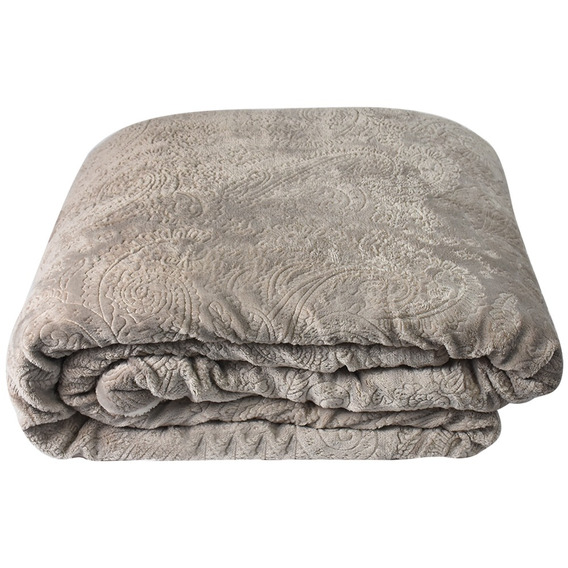 Cobertor Queen Size Di Fatto Dupla Face, Cinza