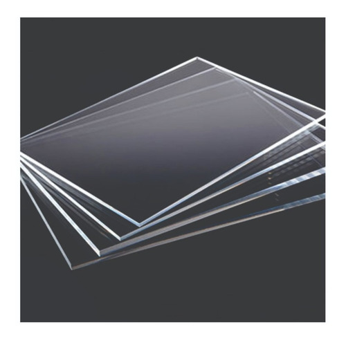 Imagem 1 de 1 de Chapa Acrilico Cristal A4  21x29,7cm 5 Peças 2mm Espessura