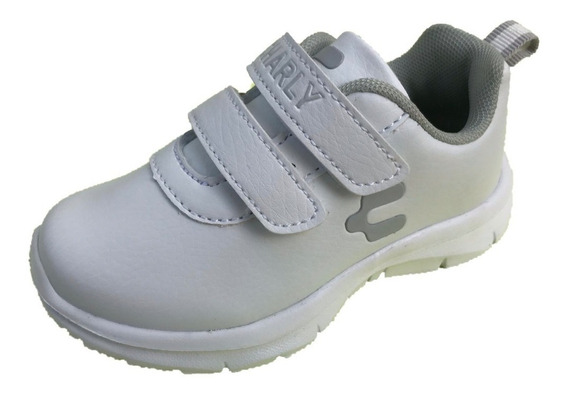 Tenis Infantil Niño Charly 1069371 Blanco Casual Deportivo