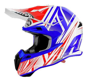 Casco Cross Airoh Terminator 2.1 S Cleft Carbono Azul - Sti