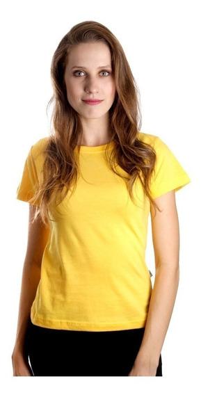 Camiseta Feminina Baby Look Algodão Lisa Atacado Blusa