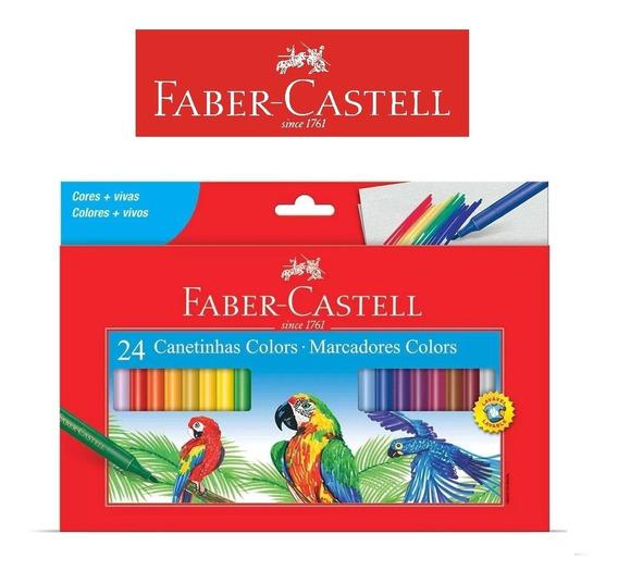 Canetinhas De 24 Cores Hidrocor Faber Castell - Promoção!