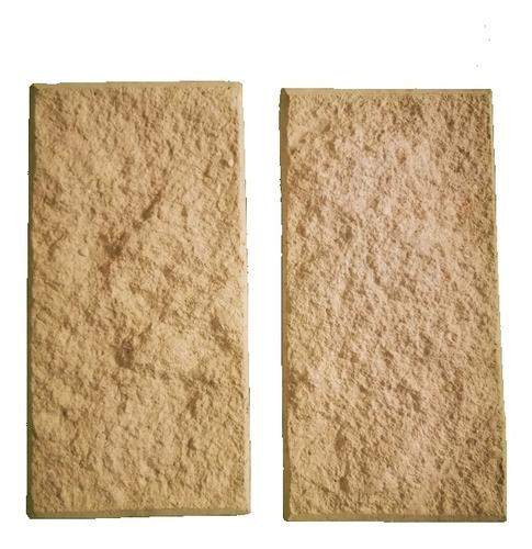Imagen 1 de 5 de Molde Block Cara De Piedra Poliuretano De 2 Espacios