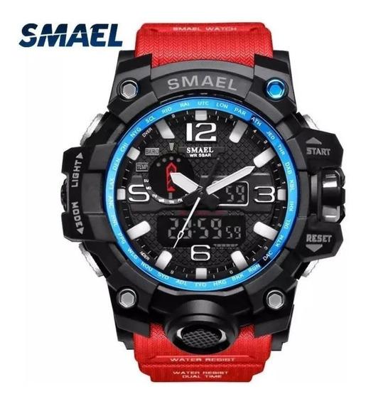 Relógio Smael 1545 Militar Shock Original/dual Time Promoção