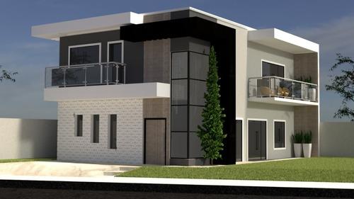 Imagem 1 de 9 de Planta De Casa 4 Quartos - Projeto Arquitetônico Completo