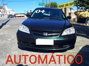 Honda Civic 1.7 Lxl Aut. 4p 2004 - Completo + Couro!!!