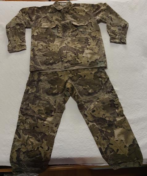 Camisa Y Pantalón Camuflado Hojas Fores Leather Igual Nuevo