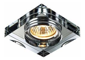 Spot Cristal Espelhado Embutir Gu10 Dicroica Banheiro Ac593