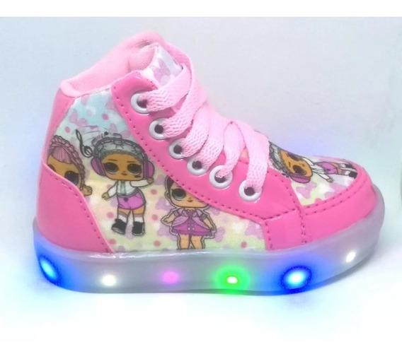 Sapato Bota Luz Led Lol E Unicornio Feminino Infantil Brinde