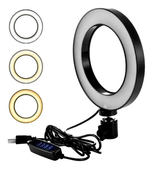 Ring Light Com Tripé Iluminador Youtuber Maquiagem Salão