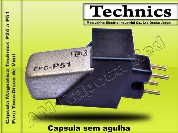 Capsula Technics Epc 51_p/ Som Hi-fi_s/ À Agulha_original