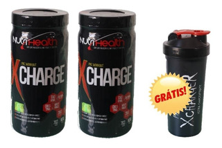 Kit Pré Treino Monstro Xcharge 702g Nutrihealth Suplementos
