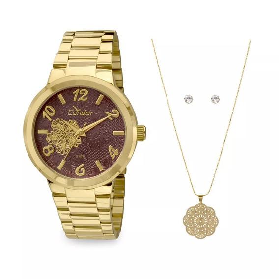 Relógio Condor Renda Dourado Co2036db/k4r De239 Por 169