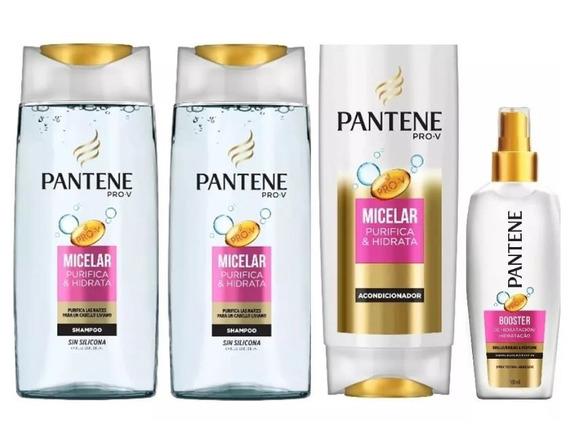 Shampoo Pantene Pro-v Micelar 400 Ml 2 Un + Acondicionador +