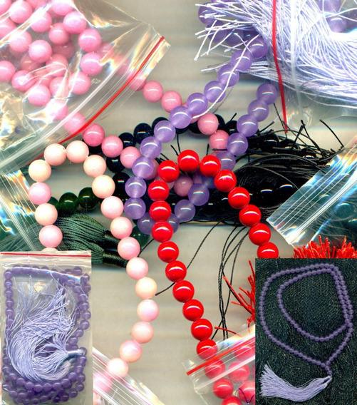 Mala Collar De Lavender Jade