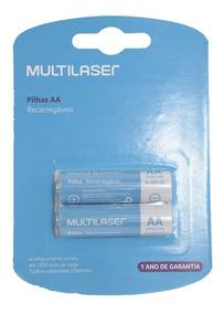 Pilha Recarregável 2a Com 2 Pilhas - Multilaser | Cb053