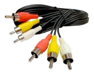 Cable Rca 15 Metros Cable 3 Rca A 3 Rca Av Audio Vídeo Largo Dvd Decodificador - Lanus