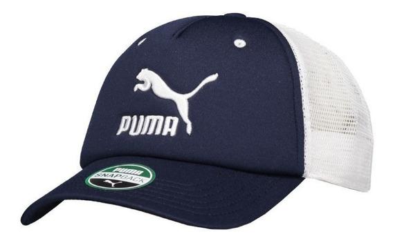 Boné Puma Aba Curva Archive Trucker Cap - Azul E Branco