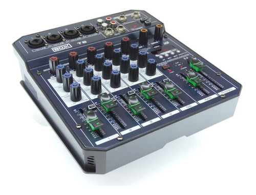 Mesa De Som 6 In Interface P/ Live Celular Otg Usbpc Boxx T6