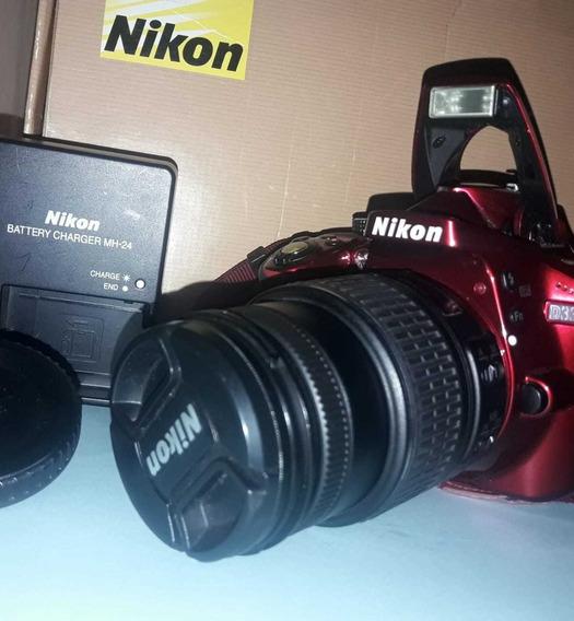 Cámara Nikon D3300 Con Lente 18-55 Vr
