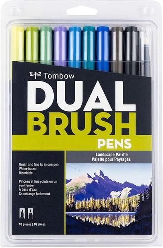 10 Marcadores Tombow Dual Brush / Landscape Paisajes