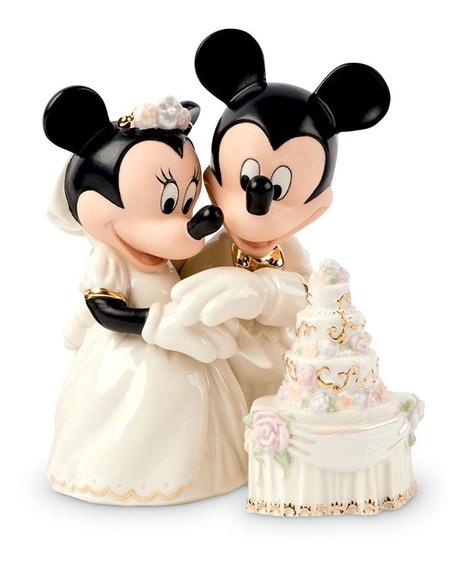 Mickey Y Minnie Novios Pastel De Boda Porcelana Envio+ Meses