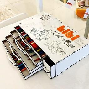 Porta Lápis - Collor Box ( Caixa De Cor ) - Porta Lápis Mdf