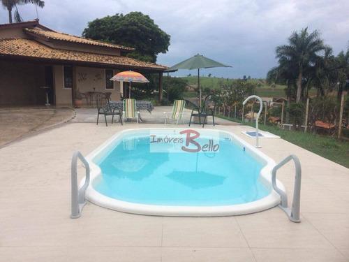 Chácara Com 4 Dormitórios À Venda, 1040 M² Por R$ 700.000,00 - Morada Dos Pássaros - Itatiba/sp - Ch0264