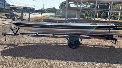 Imagem 1 de 8 de  Casco Barco De Aluminio Way 600 Semi Chato