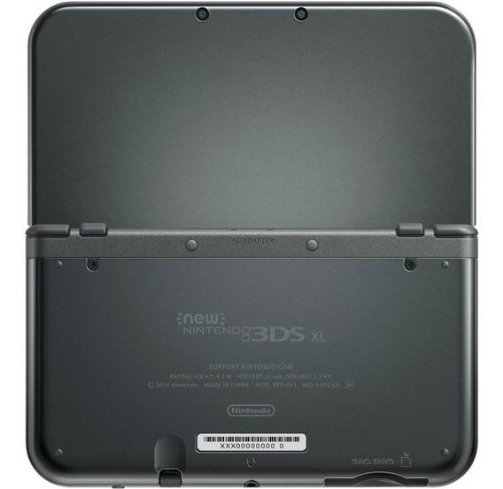 Nintendo New 3DS XL Standard preto-metálico