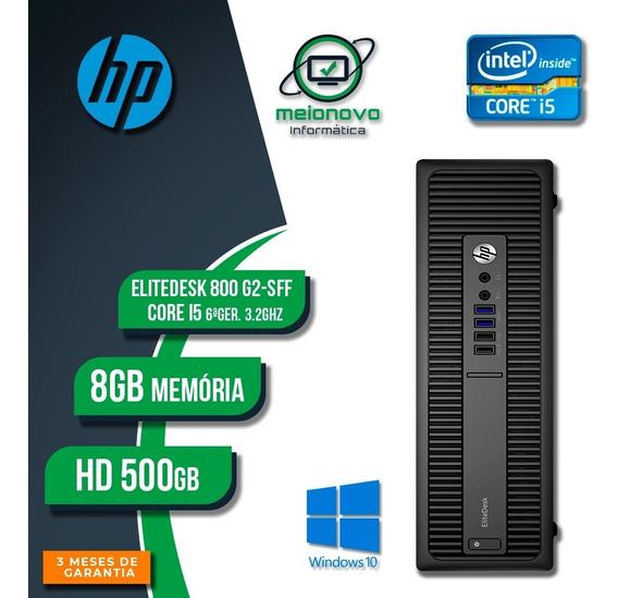 Desktop Hp Elitedesk 800 G2 - I5 3.2ghz 8gb 500gb