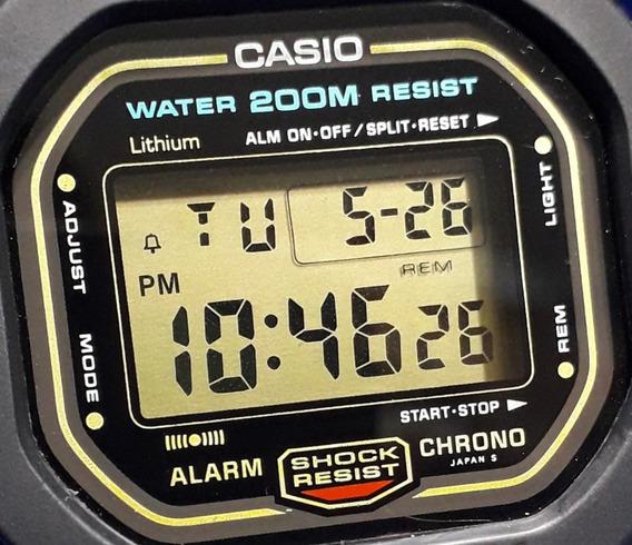 Relógio Casio G-shock Dw 5600 Série Ouro Fundo Rosca Japan