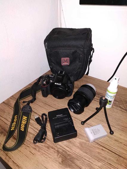 Câmera Nikon D5300 + Lente 18-55 Mm