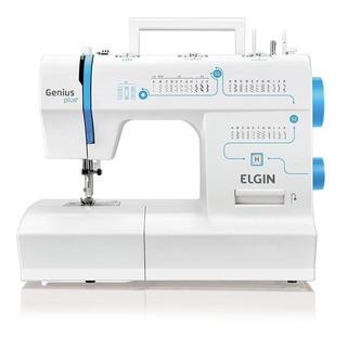 Máquina de costura Elgin Genius Plus+ JX-4035 branca 110V