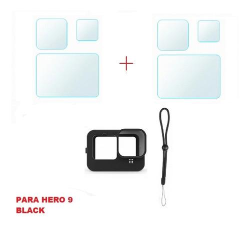 Imagem 1 de 1 de Película Protetora E Capa Silicone Para Gopro Hero 9 Black
