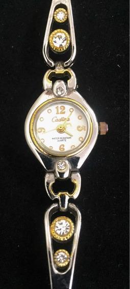 Relógio Feminino Cadina Branco Produto De Mostruário 018