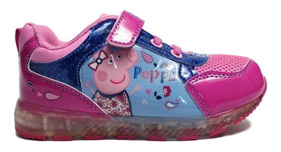 Tenis Para Niña De Peppa Pig Color Rosa Shine Con Lz Led