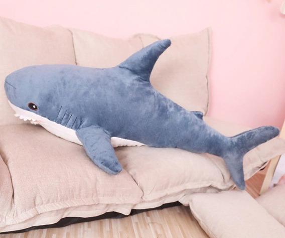 Tubarão Azul Pelúcia Gigante 80cm Presente Criança Promoção
