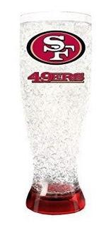 Vaso Pilsner Congelable Nfl 49ers 16oz Mide 25 Cm De Alto