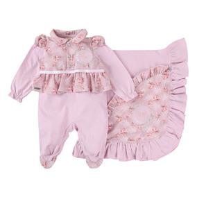 Saída Maternidade Menina Din Don Macacão+manta Floral 922220