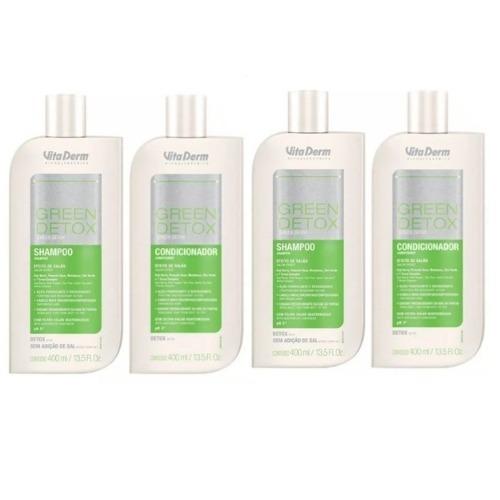 Green Detox Vita Derm 02 Shampoos E 02 Condicionadores