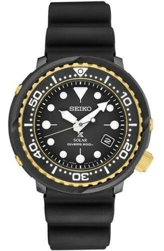 Reloj Seiko Sne498 Buzo Negro Dorado Tuna -entrega Inmediata