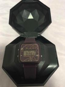 Relógio Feminino Chilli Beans Roxo/vinho Digital Com Case