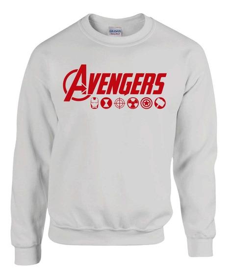 Avengers Marvel Sudadera Sin Gorro Blanco