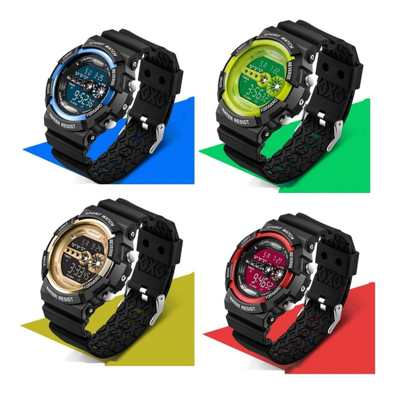 Reloj Digital Led Hombre Resistente Al Agua Sport Watch