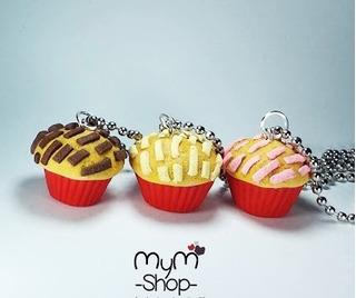 Llavero Collar Manteconcha Concha Cupcake Kekito Pan Concha