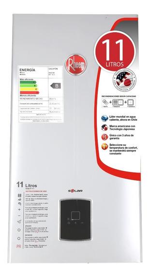 Calefon Gas Licuado 11 Litros Tiro Natural Rheem Ionizado