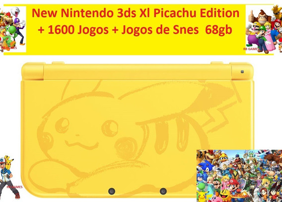 New Nintendo 3ds Xl Snes Edition 1600 Jogos 68gb Pokémon