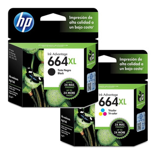 Cartuchos Hp 664xl Negro + 664xl Color Pack Combo Original